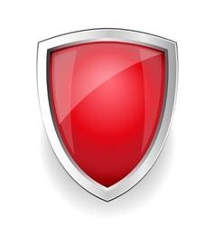 Red empty shield vector