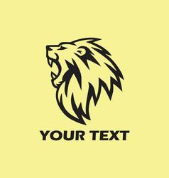 roaring lion logo design vector image