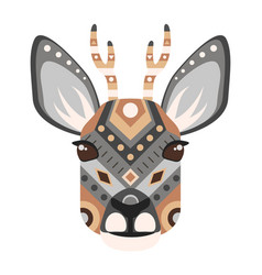 roe head logo deer decorative emblem vector image