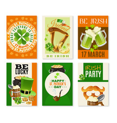 saint patricks day celebration banners set vector image
