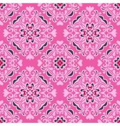 Seamless pattern pink flower design vector