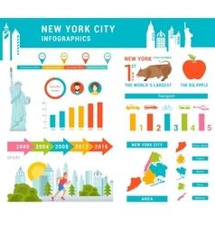 set infographics new york city vector image