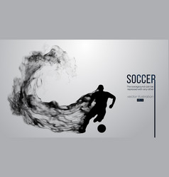 Silhouette of a football player soccer with ball vector