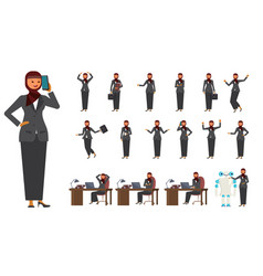 smart business arab woman characters vector image