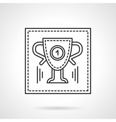 Sport trophy flat line icon vector