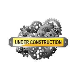 Under construction web page vector
