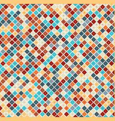 Vintage color geometric ornament vector