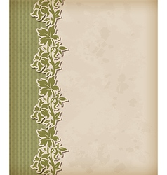 Vintage green background vector