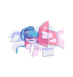 virtual reality glasses vector image