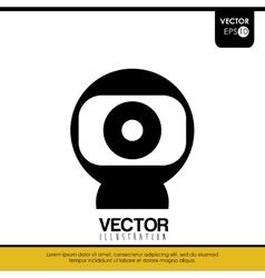 webcam icon design vector image