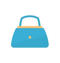 Womens handbag blue fashion vector
