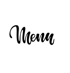 word menu hand lettering good appetite typo icons vector image