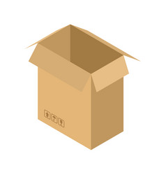 cardboard box open isolated containers for moving vector image vector image