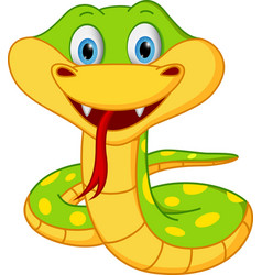 cute snake cartoon vector image