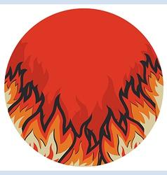 Grunge fire label vector image