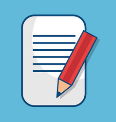 paper document with pencil isolated icon vector image