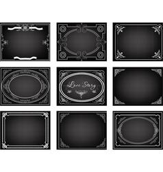 Set old movie frames vector image vector image