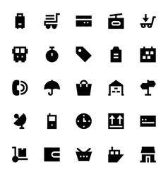 Shipping and delivery icons 1 vector