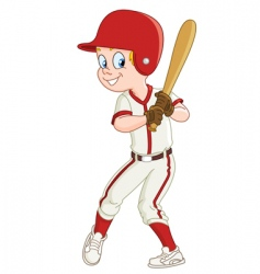 baseball kid vector image