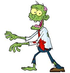 Cartoon Green Zombie vector image vector image