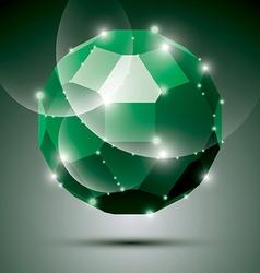 Party dimensional green sparkling disco ball vector image vector image