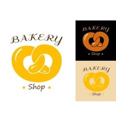 Pretzel bakery emblem vector image vector image