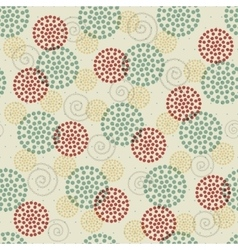 seamless abstract ornament dots vector image vector image