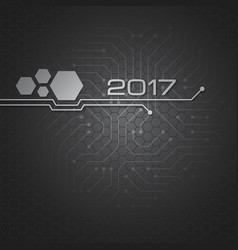 abstract technology background for 2017 vector image vector image