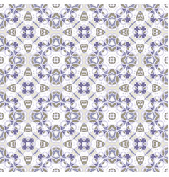 Delicate blue and white seamless pattern vector