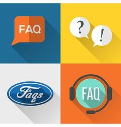 FAQ icons vector image vector image
