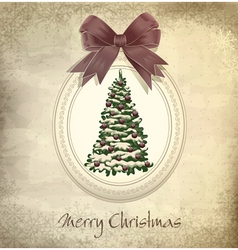 holiday vintage christmas background vector image