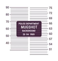 Mugshot background template vector image