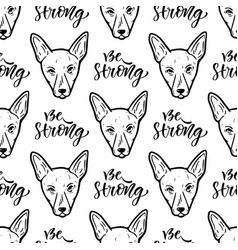 seamless pattern with dogs wrapping paper or vector image