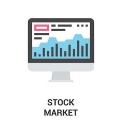 stock market icon concept vector image