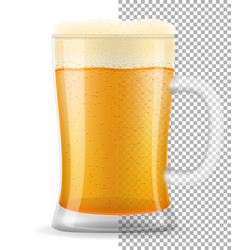 beer in mug transparent stock vector image vector image