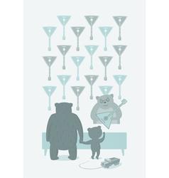 Birthday Bears vector image