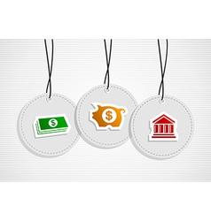 Hanging savings badges set vector image vector image