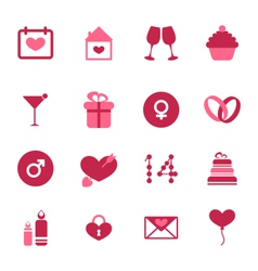 Modern flat icons for Valentines Day design vector image vector image