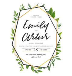 wedding invite invitation save tehe date floral vector image vector image