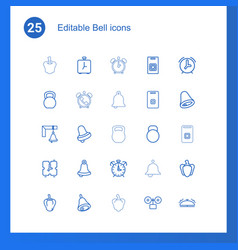 25 bell icons vector