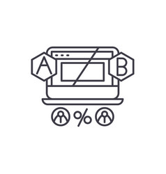 ab testing line icon concept ab testing vector image