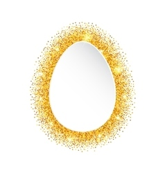 Abstract Happy Easter Golden Glitter Egg vector image