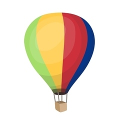 Airballoon icon in cartoon style isolated on white vector image