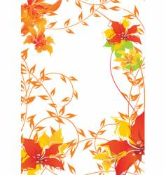 autumn floral frame vector image