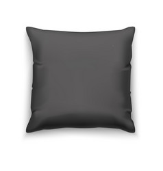 black pillow blank mock up vector image