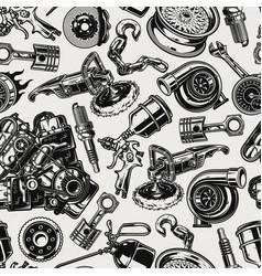Car parts and repair tools seamless pattern vector