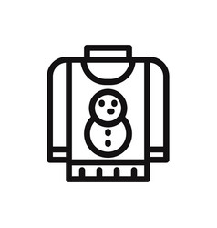 Christmas sweater icon vector