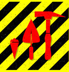 construction works symbol vector image