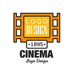 creative cinema or movie logo template design vector image