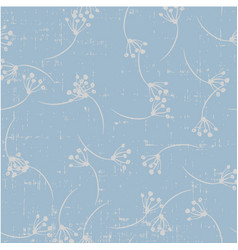 cute beautiful seamless dandelion floral pattern vector image